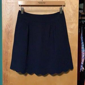 NWT Loft Navy Scalloped Skirt